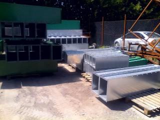Производство норий зерновых из оцинкованной стали.