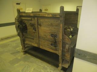 Семяочистительная машина . Экспонат музея политической истории.